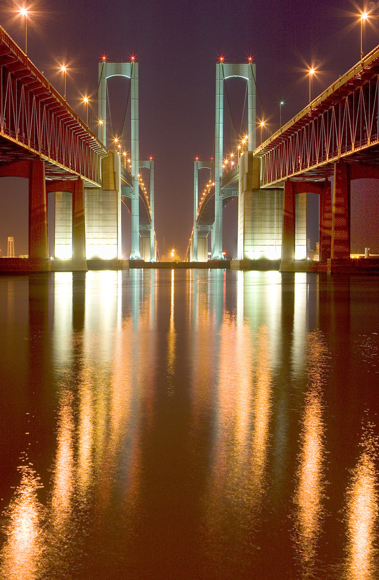 Delaware Memorial Bridge, Night
