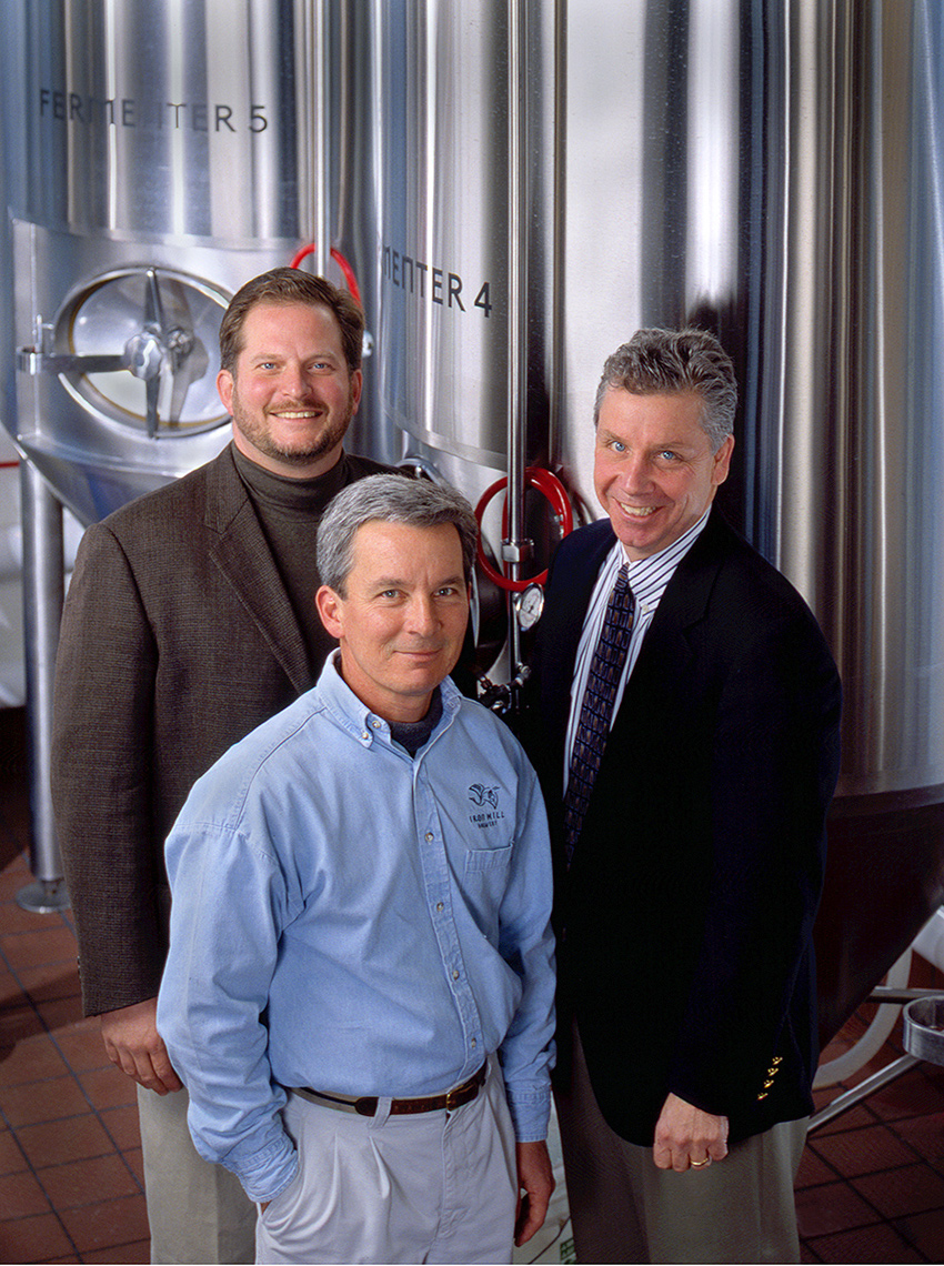 Mark Edelfon, Kevin Davies, Kevin Finn, Operating Partners Iron Hill Brewery