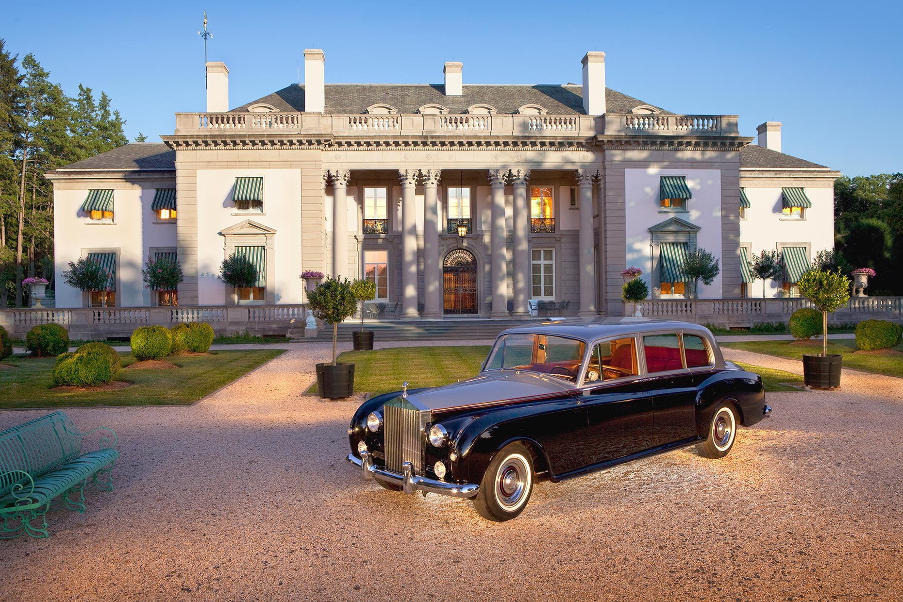 Nemours Mansion and Rolls Royce